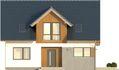 Projekt domu Fikus 2 - elewacja przednia