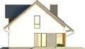 Projekt domu Fikus 2 - elewacja boczna 1