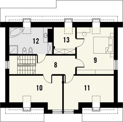 Projekt domu Fikus 2 - rzut poddasza
