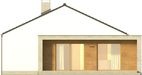 Projekt domu Trendsetter - elewacja boczna 1