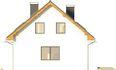 Projekt domu Rewers - elewacja boczna 1