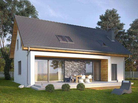 Projekt domu Rewers - widok 2