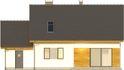 Projekt domu Toffi - elewacja tylna