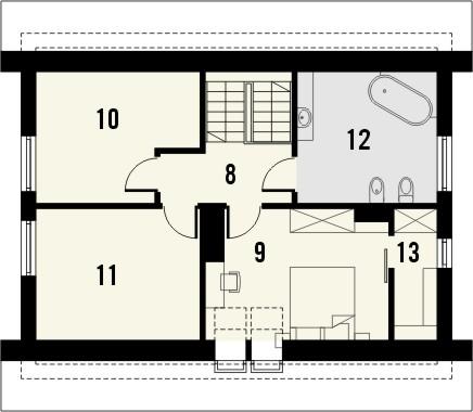 Projekt domu Toffi 2 - rzut poddasza