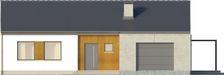Projekt domu Inter - elewacja przednia