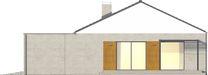 Projekt domu Inter - elewacja boczna 1