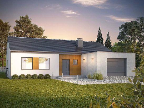 Projekt domu Inter - widok 2