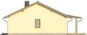 Projekt domu Smakołyk - elewacja boczna 2