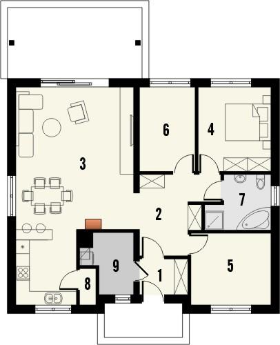 Projekt domu Smakołyk - rzut parteru