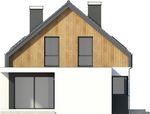 Projekt domu Vital - elewacja boczna 1