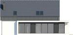 Projekt domu Vital - elewacja tylna