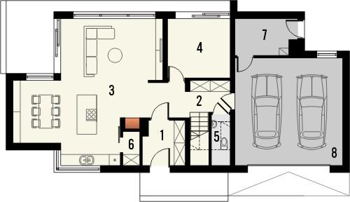 Projekt domu Vital 2g - rzut parteru