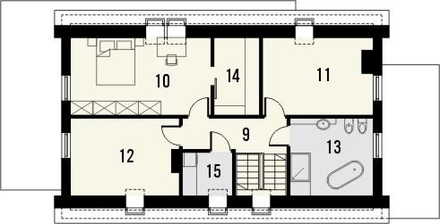 Projekt domu Vital 2g - rzut poddasza