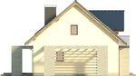 Projekt domu Melba - elewacja boczna 2