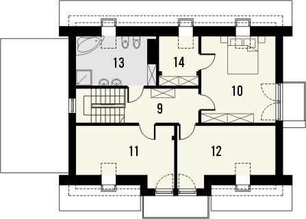 Projekt domu Melba - rzut poddasza