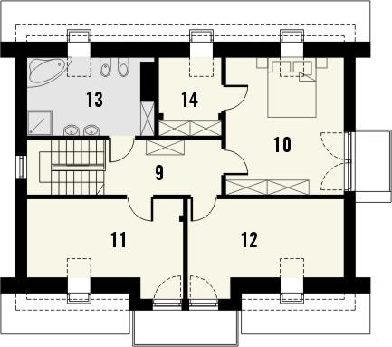 Projekt domu Melba 2 - rzut poddasza