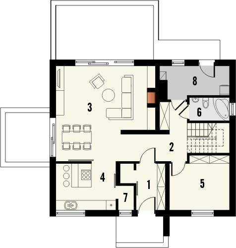 Projekt domu Melba 3 - rzut parteru