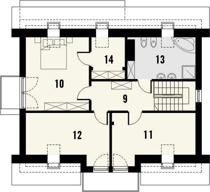 Projekt domu Melba 3 - rzut poddasza