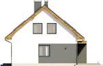Projekt domu Melonik - elewacja boczna 1