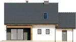 Projekt domu Melonik - elewacja tylna