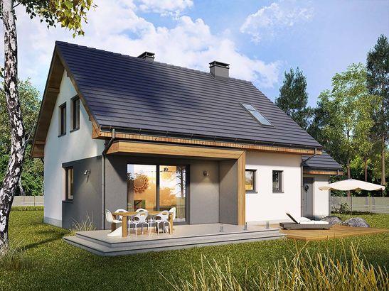 Projekt domu Melonik - widok 1