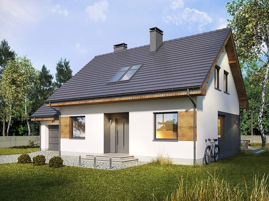 Projekt domu Melonik - widok 2