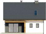 Projekt domu Melonik 2 - elewacja tylna