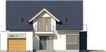 Projekt domu Etiuda - elewacja przednia