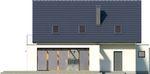 Projekt domu Etiuda - elewacja tylna