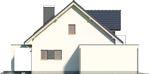 Projekt domu Etiuda - elewacja boczna 2