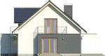 Projekt domu Etiuda 2g - elewacja boczna 1