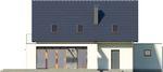 Projekt domu Etiuda 2g - elewacja tylna