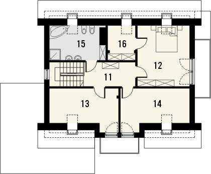 Projekt domu Etiuda 2g - rzut poddasza