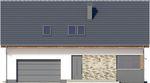Projekt domu Ekslibris - elewacja przednia