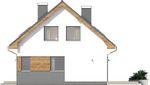 Projekt domu Ekslibris - elewacja boczna 1