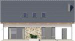 Projekt domu Ekslibris - elewacja tylna
