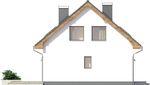 Projekt domu Ekslibris - elewacja boczna 2
