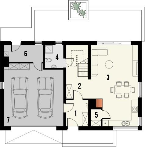 Projekt domu Ekslibris - rzut parteru