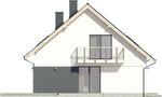 Projekt domu Lawenda 2 - elewacja boczna 1