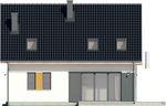 Projekt domu Lawenda 2 - elewacja tylna