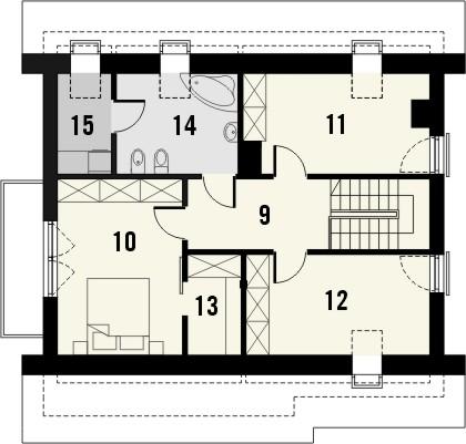 Projekt domu Lawenda 2 - rzut poddasza