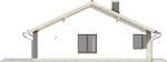 Projekt domu Szafirek - elewacja boczna 1