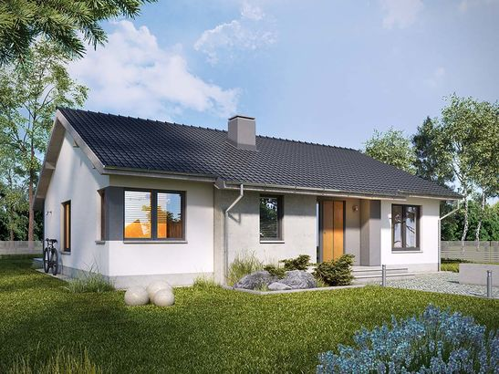 Projekt domu Szafirek - widok 1