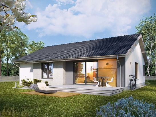 Projekt domu Szafirek - widok 2