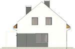 Projekt domu Primo - elewacja boczna 1