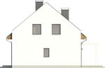 Projekt domu Primo - elewacja boczna 2