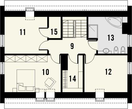 Projekt domu Primo - rzut poddasza