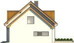 Projekt domu Format - elewacja boczna 2