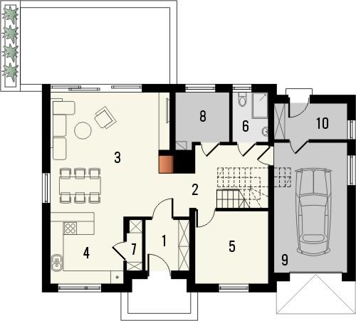 Projekt domu Format - rzut parteru