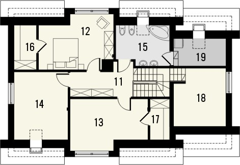 Projekt domu Format - rzut poddasza